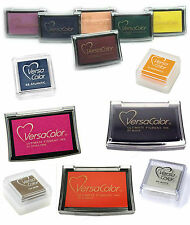 VERSACOLOR PIGMENT INK PAD, ARCHIVAL EMBOSSING INK PADS CHOICE OF COLOUR & SIZE