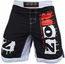 xTreme MMA Fight Shorts UFC Cage Fight Grappling Muay Thai Boxing BLACK AllSizes