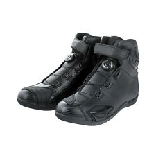 VICT Mens Mid Length Motorcycle Racing Boots Black Street Bike Motorcross Shoes
