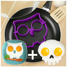 Egg ring non stick silicone poacher , fried moulds skull cloud shaper kitchen