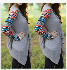 Women's Fashion Long Sleeve Sweater Irregular Cardigan Casual Knit Coat Outwear