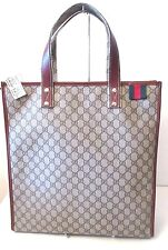 New GUCCI 233081 GG Plus Canvas Signature Loop Web Unisex tote