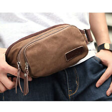 Mens Canvas Travel Shopping Shoulder Fanny Pack Waist Bag Belt Purse Wallet