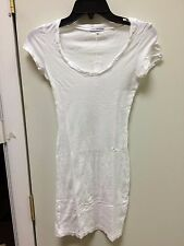 james perse long blouse t-shirt white womens short sleeve wsz6017   new