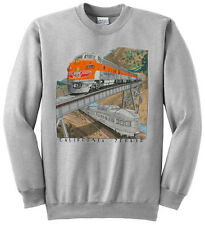 Western Pacific California Zephyr Railroad Train Sweatshirt Pullover [128]