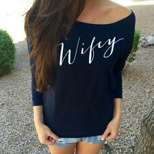 New Brand Sexy Womens Long Sleeve Off Shoulder Loose T-Shirt Tops Blouse hot!