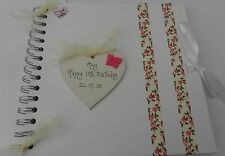 18th/21st/40th/50th/Any Birthday Scrapbook Memory Book Photo album personalised