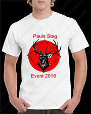 Printed T Shirt Personalised - Any Image  Photo  Text - Stag Do Hen Party