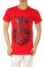 NW MEN'S PRINTED LION CROWN GRAPHIC RED COTTON T-SHIRT S, M, L, XL, 2XL