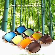 Newest Unisex UV400 Protection Bamboo Frame Polarized Sunglasses Glasses Eyewear
