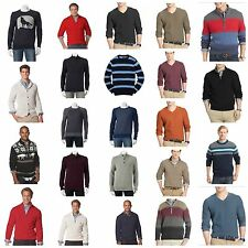 NWT Men Sweaters Chaps IZOD Urban Pipeline Cardigan Henley Mock Neck S M L XL 2X