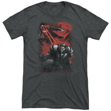 SUPERMAN MAN OF STEEL FIRE FIGHT Men's Tri-Blend Super Soft Tee Shirt SM-2XL