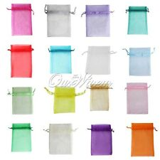 50 Strong Organza Pouch 9x12cm Wedding Favor Favours Gift Candy Bag Many Colors