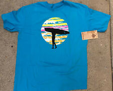 Duke Kahanamoku Surfer Hawaii Blue Tee Shirt Sunset Graphic Print Brand New