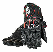 RST TRACTECH EVO-R Black Motorbike Kangaroo Leather Race Gloves XS S M L XL 2XL