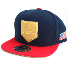NHL Los Angeles Kings Mitchell & Ness USA Hi Crown Fitted Hat - Navy/Blue