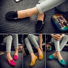 Womens Slip On Loafers Ballet Flats Boat Single Shoes Ladies Casual Plimsolls