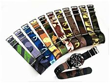 NATO G10 ® Ballistic CAMO nylon watch band Military strap RAF stitched IW SUISSE