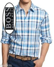 NWT Hugo Boss Black Label By Hugo Boss Plaid Regular Fit Sport Shirt Size XL