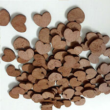 Wooden Retro Love Heart /Just Married Heart Pieces Craft Card Making for Wedding
