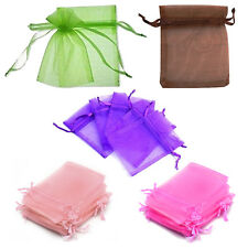 5x(100 Pcs Organza Wedding Favour Bags Jewellery Pouches Green)