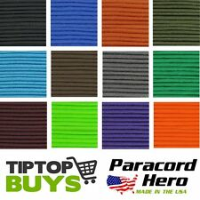 *Solid Colors* 550 Paracord Commercial Mil Spec 7 Strand Parachute Cord 10-100ft