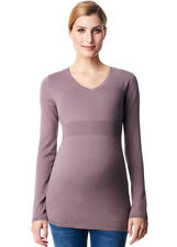 NEW - Esprit - Cashmere Blend Fitted Maternity Jumper in Taupe