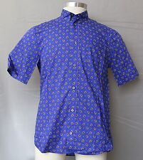 LIBERTY PRINT SHORT SLEEVED BUTTON DOWN COTTON SHIRT (see sizes)