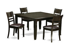 Parfait 5 Pieces dining table set-Dinette table with Leaf and 4 Dinette chairs.