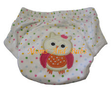 1pc Owl DesignBaby Toddler Potty Toilet Training Pant New Reusable Multicolour