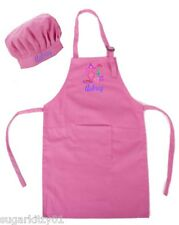 PERSONALIZED Child's Size Pink Apron & Chef's Hat Free Shipping