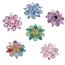 wholesales lot 8colors 18-20mm  Rhinestone metal  snaps chunk buttons MDB18-37