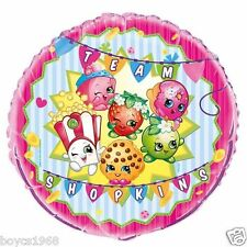 "18"" FOIL AND 12"" LATEX I LOVE SHOPKINS BALLOONS BIRTHDAYS CHRISTENINGS"
