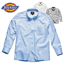 DICKIES LONG SLEEVE OXFORD SHIRT SMART POCKET COLLAR EASY CARE DURABLE 15-20""