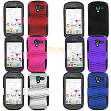 For Samsung Galaxy Exhibit T599 APEX Mesh Net Hybrid Skin Case Cover + Screen