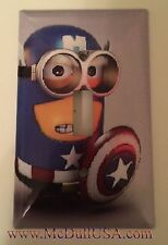 Minions Captain America Light Switch & Power Duplex Outlet Cover Plate