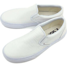 VANS CLASSIC SLIP-ON UNISEX Shoes (CROC LEATHER TRUE WHITE) BRAND  NEW in BOX!!