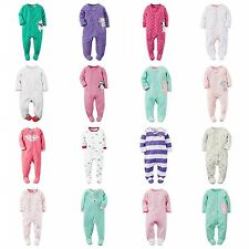 NWT Carters Infant Girl's Footed PJ Blanket Sleeper & Play Pajamas ALL SIZES