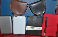 Money Wallets, Tray Purses, Credit Card Holders - Leather, Velcro and Aluminium