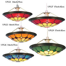 Tiffany Bistro Uplighter Bistro Coolie Stained Glass Handmade - Choice of colour