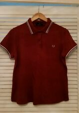 Women's Fred Perry Burgundy Polo Top M