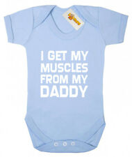 I Get Muscles Daddy Bodysuit, baby shower gift for newborn baby boys and girls