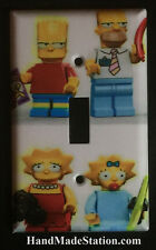 Lego Simpsons Family characters Light Switch & Power Outlet Cover Plate