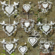Hanging Hearts Wedding Hearts Wedding Favours Home Decoration Heart Sign Gift