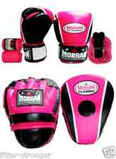 10oz 12oz 16oz BOXING GLOVES PADS MITTS PINK BLUE BLACK SKIPPING ROPE HAND WRAPS