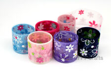 1 inch (25mm) FLORAL FLORET Designs 2016 Print Organza Sheer Ribbon 200yds/roll