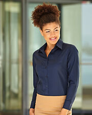 Fruit Of The Loom Lady-Fit Long Sleeve Oxford Shirt (65002)