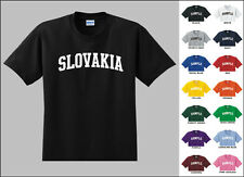 Country of Slovakia College Letters T-shirt