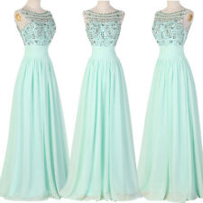 Sequined Ladies Long Evening Prom Dresses Bridesmaid Formal Cocktail Party Dress