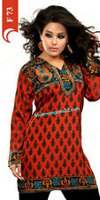 Ethnic Tunic Pakistani Bollywood Kurta Indian Designer Kurti Dress Top Womens
